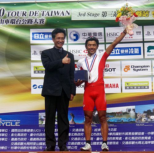 ツール・ド・タイワン第3ステージ優勝 宮澤