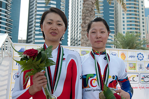 Asia election women's elite personal TT silver medal Hagiwara and gold medal EUNJU SON