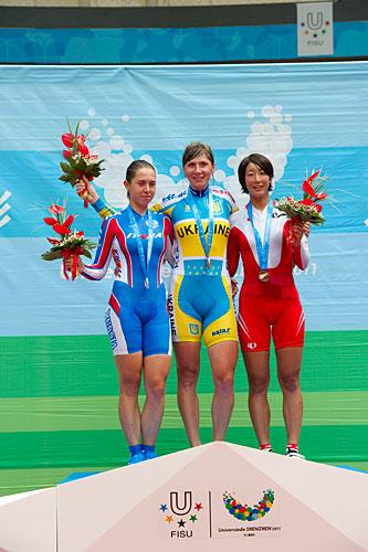 ユニバーシアード女子ポイント銅メダル上野