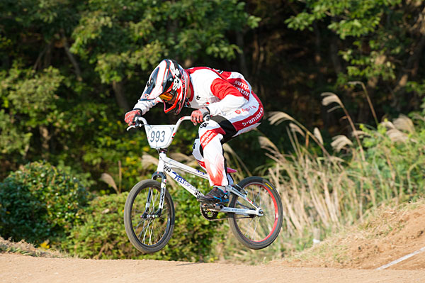 All Japan BMX Championship time trial champion Nagasako