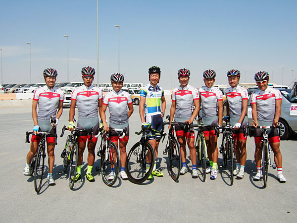 Japan team and Beppu, Tour of Qatar