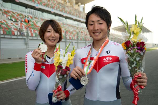 アジア選 個人TT 銀メダル(上野みなみ、山本大喜)