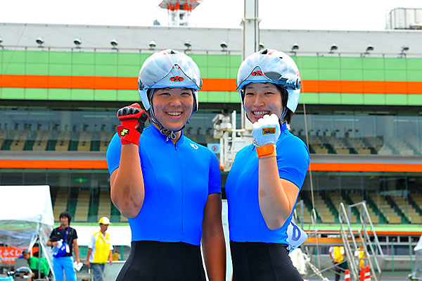 Women's team sprint Japan new record(Kobayashi / Ishii)