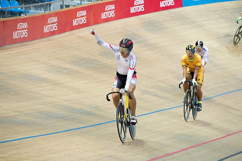 Asia elezione medaglia d'oro Keirin Wakimoto!