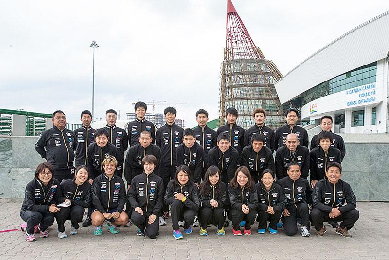 アジア選手権トラック選手団