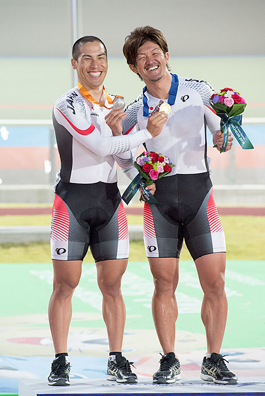 Asian Games sprint Nakagawa gold, Kawabata silver medal!
