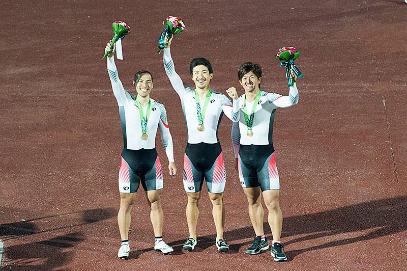 アジア大会チームスプリント銅メダル