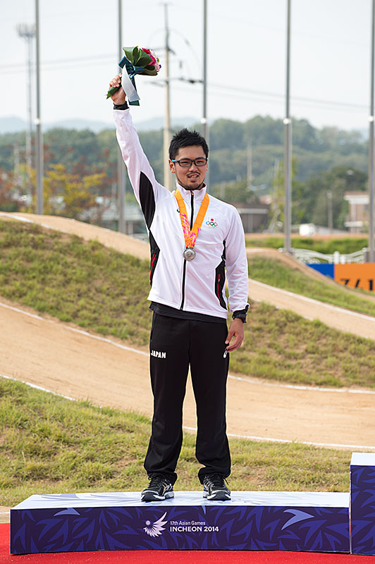 アジア大会 BMX三瓶 銀メダル!