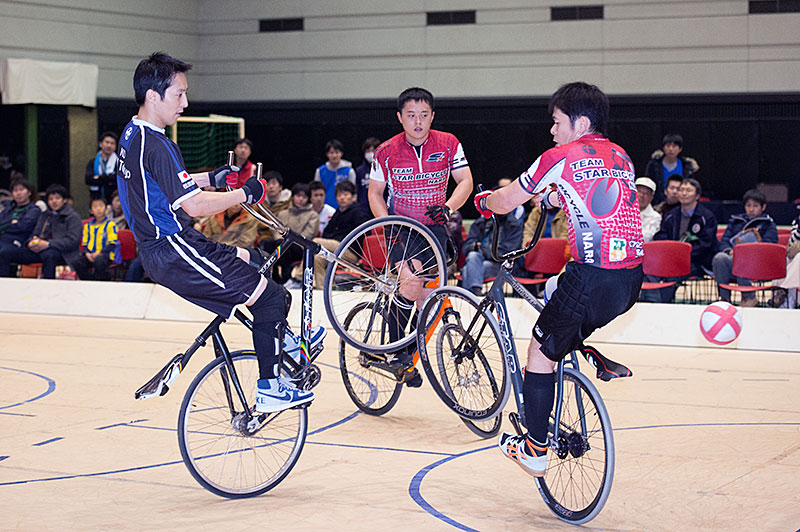 All Japan cycle soccer finals