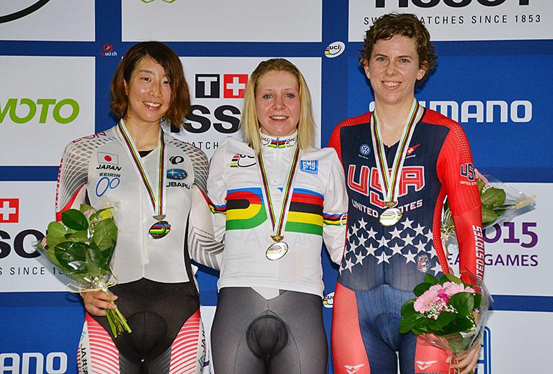 世界選ポイントレース 銀メダル 上野