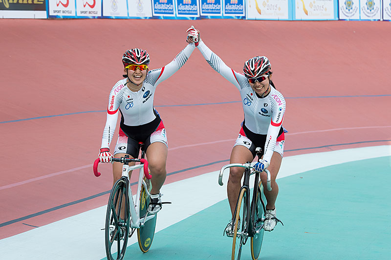 Asian Junior Championships women's Keirin gold, silver!