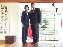 橋本会長とパトリック・カネール大臣