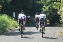 修善寺のサーキットはテクニカルな上に登りが多いので、早目に現地入りし周回コースをゆっくりと試走した。