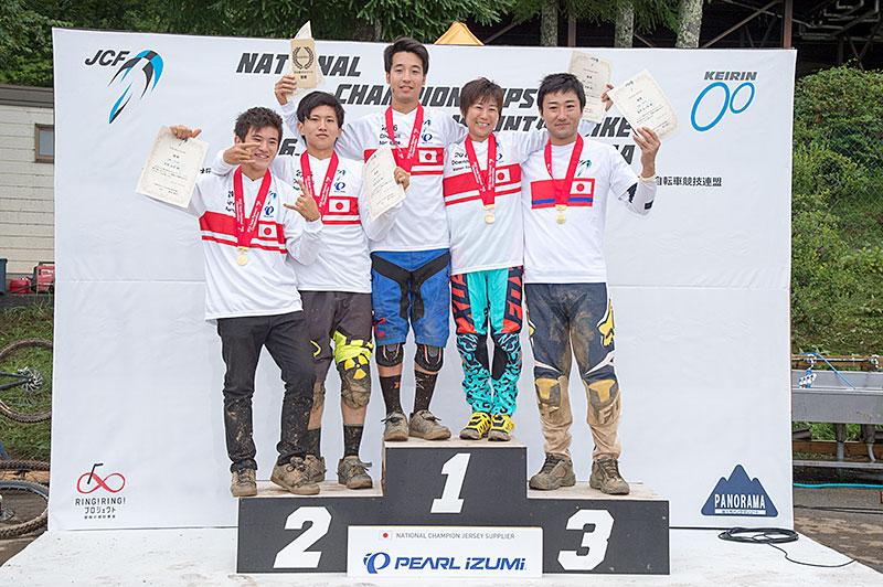 全日本MTB選手権DHIチャンピオン達