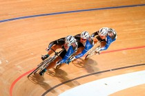 Men's Team Sprint first place Iwai Shokai racing 47 seconds 960 business group new record
