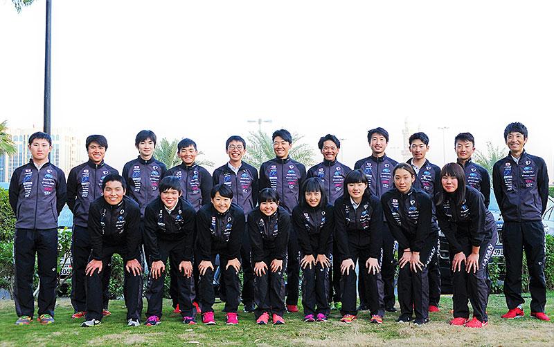 アジア選手権ロード日本選手団
