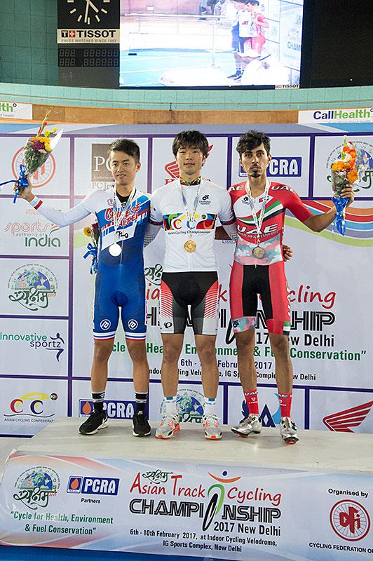 アジア選MEポイントレース優勝 倉林