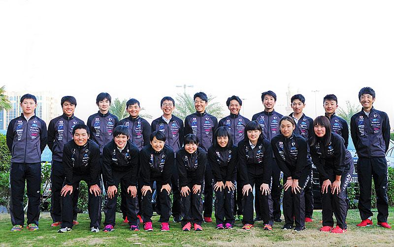 アジア選手権ロード日本代表選手団