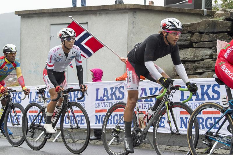 ロード世界選U23 逃げグループの山本と岡