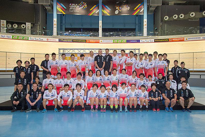 アジア選トラック選手団