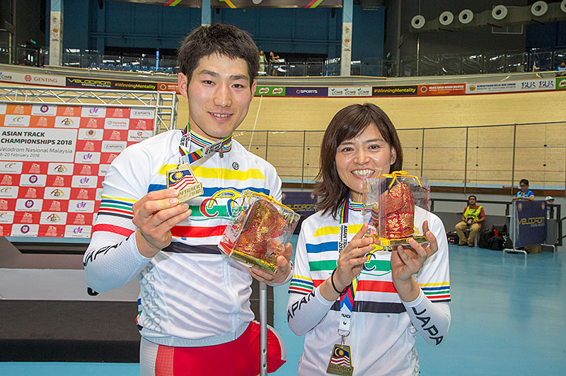アジアパラ選手権 IP優勝の川本と野口