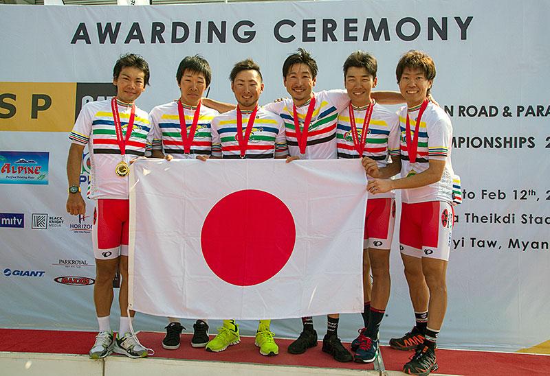 アジア選 男子チームタイムトライアル優勝!