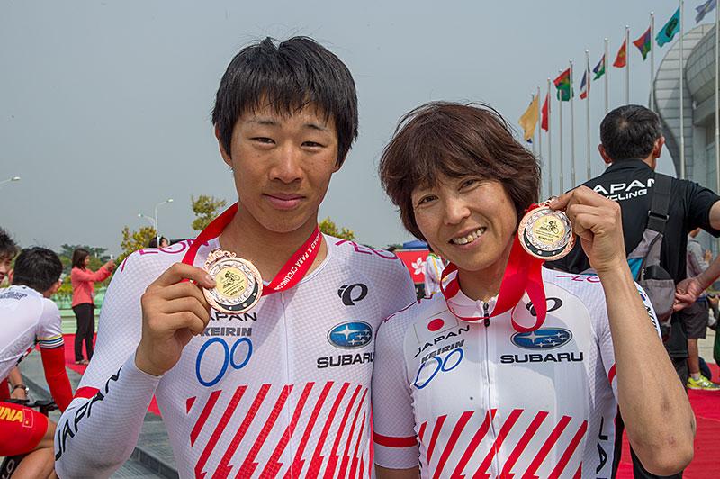 アジア選手権ロードITT 松田と唐見